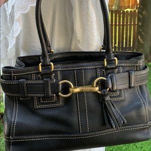 COACH - Pebbled Leather Hampton Bag - Immaculate!